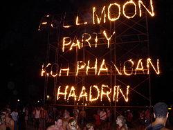 Vollmondparty auf Koh Phangan